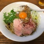 くじら食堂 - 「油そば(生卵付き)」750円