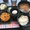 ゆで太郎 - 料理写真:朝ごはんメニュー「納豆360円」+かき揚げ100円