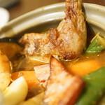 札幌スープカレー傾奇 - ベーコン、レッグ