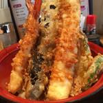 天ぷら海鮮 五福 - 米油で揚げているためサクサクとしているのね〜多分