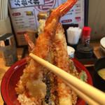 天ぷら海鮮 五福 - 食べ応えのあるエビちゃんだった