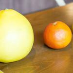 白金台こばやし - 左から土佐文旦、タロッコオレンジ、黄金柑です!今日も美味しかった、ごちそうさまでした(*^^*)