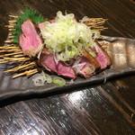 蕎麦酒肴 百景 - 鴨ステーキネギまみれ