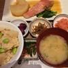 さち福やCAFE - 料理写真:金目鯛の煮付けと春の竹の子ご飯定食
