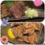 蕎麦酒肴 百景 - 牛たん焼き&若鶏の唐揚げ