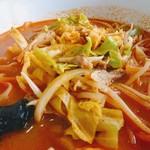 西安刀削麺 - 味噌辛刀削麺 アップ