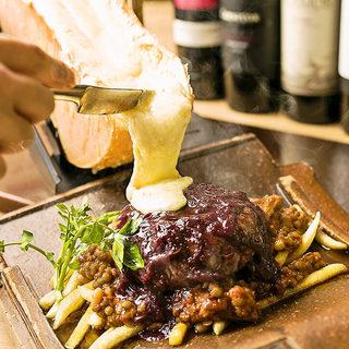 黒毛和牛ハンバーグ「ラクレットチーズコース」2H3280円♪