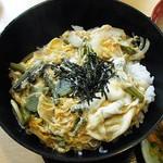 若ぎ里 - 山菜丼の接写