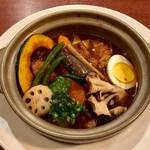 札幌スープカレー傾奇 - 傾奇チキン野菜オリジナルスープカレー、1260円の半額でした。