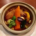 札幌スープカレー傾奇 - チキンレッグカレースパイシーハーブ、1080円の半額でした。