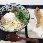 丸亀製麺 - 旨辛まぜ釜玉530円&かしわ天140円
