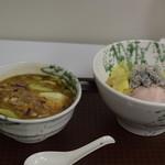 麺屋 庄太 - 三崎君栄丸の釜揚げしらす乗せつけ麺