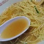 65274755 - 煮卵 中華そば 並(1玉) (ストレート麺・硬め・タレ濃いめ・葱多め・こってり) 650円