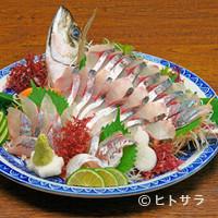 海鮮いづつ - 関アジのお造り