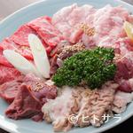酒蔵 力 - Bセット(牛カルビ、豚カルビ、ホルモン4品)