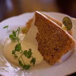 カフェ・デュ・シプレ - 紅茶のシフォンケーキ(ランチセットのケーキ)