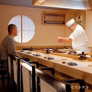 手間をかけて仕事を施した本格江戸前寿司の店