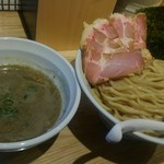 らーめん 改 - 料理写真:チャーシュー煮干つけ麺にしてみました。
