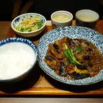 中国菜エスサワダ - 本日のランチ 麻婆茄子