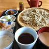 林檎舎 - 料理写真:★★★★ 三昧そば  おしぼり汁(辛味大根)、醤油つゆ、胡桃だれの三種のつけ汁で堪能