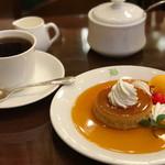 文明堂茶館 ル・カフェ - トップフォト かすてらプディングとコーヒーセット