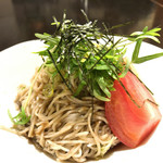 そば処 吉邦 - ★★★☆ そばサラダ   そばがキリッ。お野菜もそばも引きたつ酸味のあるかけつゆがバランスいいです