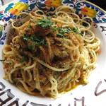 カンティーナ シチリアーナ トゥット イル マーレ - シチリア伝統 イワシとウイキョウ スパゲッティ ¥1100-