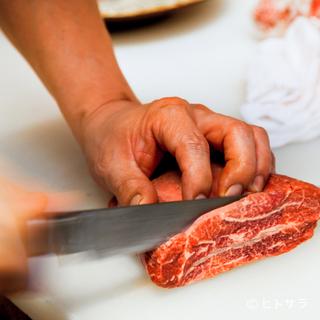 肉の質を見極める目利きと、それを最高の状態で提供するこだわり