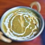 インドカレー カマナ - チキンとほうれん草のカレー3辛