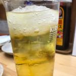 もつ焼き いとや - 緑茶ハイ