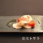 81 - 桜鯛43度 塩苺のエスプーマ
