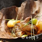 祇園 にしかわ - 秋ならカマス、松茸、ぎんなん…季節感豊かな『朴葉味噌焼き』