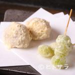 天ぷら岡本 - 銀杏と栗
