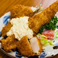 とんかつ八千代 - 旬の魚介を贅沢に盛り合わせた『ミックスフライ定食』