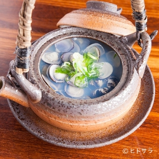 宍道湖産大きめサイズの「しじみ」を使った『しじみの酒蒸し』