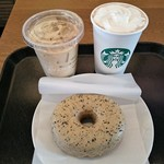 スターバックスコーヒー - カプチーノ、スターバックスラテ、アールグレイミルククリームドーナツ