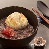 和菓子薫風 - 網で焼いた餅が香ばしい『玄米餅のぜんざい』