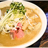 麺屋一寸星 - 料理写真:濃厚煮干らーめん+味玉 780+100円 ニッボニボな濃厚スープがたまらない♪チャーシューはネギに埋もれてます。