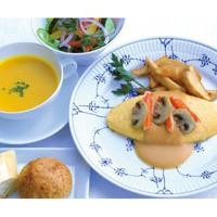 サロン・ド・テ ロザージュ - ズワイ蟹とマッシュルームのオムレツ