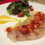 トラットリア チャオ - 真鯛と苺のカルパッチョ