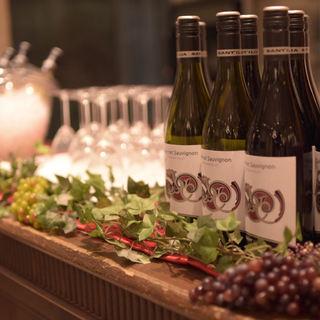 ビュッフェでワインも楽しめます!