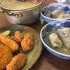栄食堂 - 料理写真:いつもの鱈汁と、フライの盛り合わせ