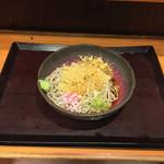 蕎麦 冷麦 嵯峨谷 - たぬきそば 冷(370円)