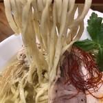 鶏そば  ムタヒロ - 【2017.4.6】全粒粉を練り込んだ平打ち中太麺。