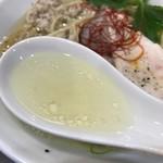 鶏そば  ムタヒロ - 【2017.4.6】鶏ガラベースの清湯スープに塩ダレの旨味。
