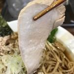 鶏そば  ムタヒロ - 【2017.4.6】鶏胸肉のチャーシュー。