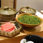 日本料理 太月 - 料理写真:花山椒しゃぶしゃぶ、鶏と鴨の出汁