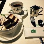喫茶館 英國屋 - 英國屋・カップシホンセット ティラミス