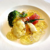ラ・メール ザ クラシック - 料理写真:海の幸と野菜のムース甲殻類のジュレとともに