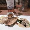 鉄板焼き Oribe - 料理写真:海鮮盛りとロゼボトル